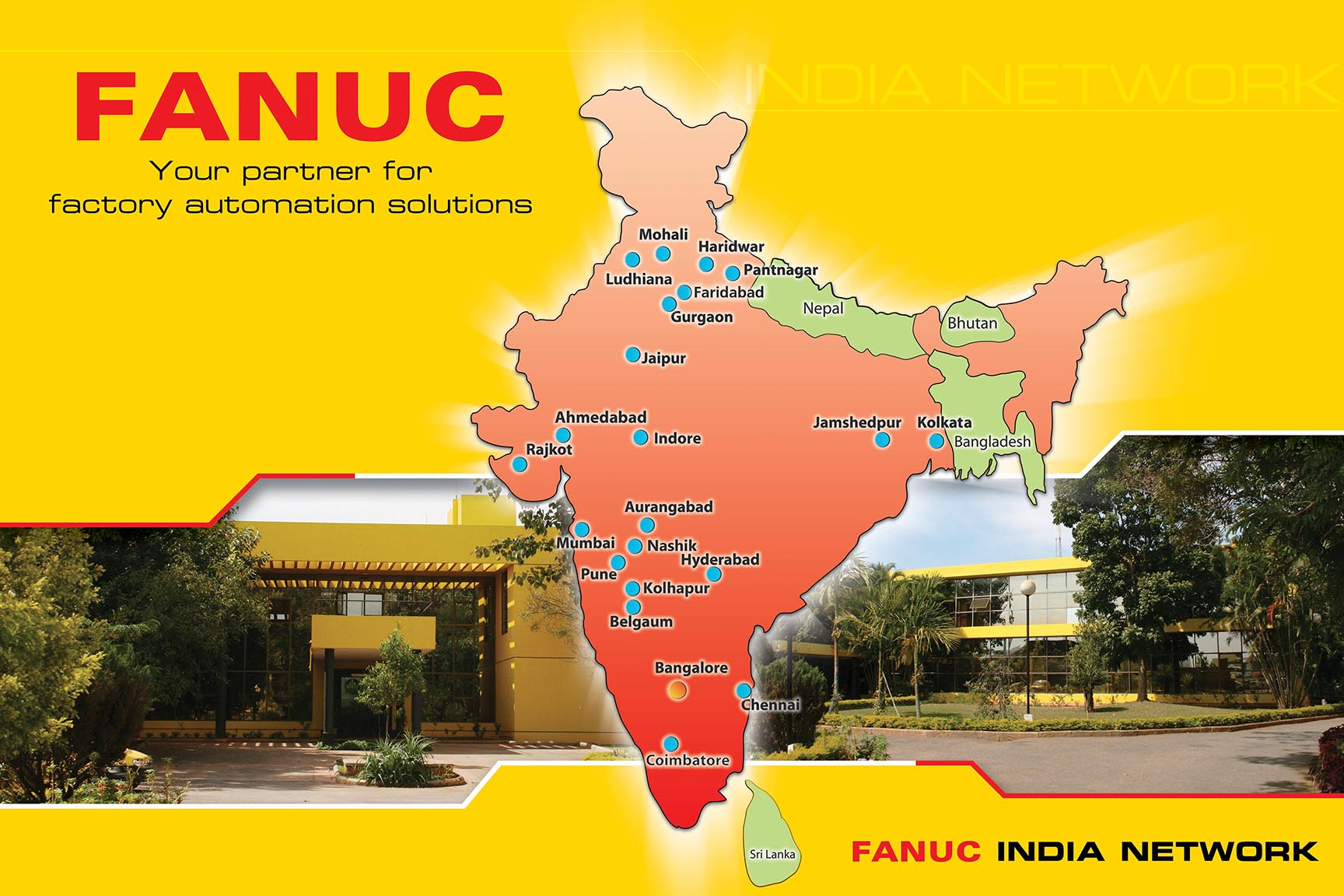 FANUC INDIA Nation Wide Network